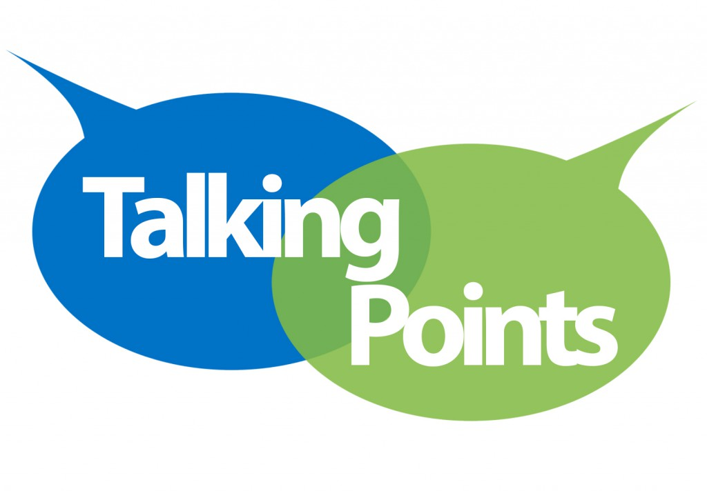 The logo of East Renfrewshire Health and Social Care Partnership: Talking Points